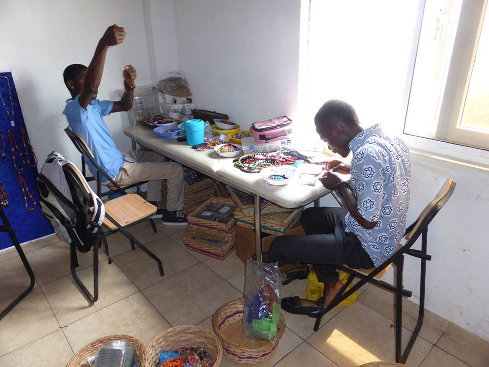 Our resourceful bead makers help to fundraise by selling jewellery to visitors